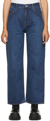 Balenciaga Blue Ankle Cut Jeans