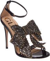 Gucci Crystal Embellished Patent Sandal