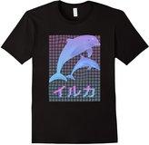 a e s t h e t i c shop Men's Dolphin Vaporwave Shirt - Aesthetic T-shirt 2XL