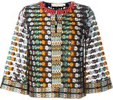 Tory Burch embroidered floral blouse - women - Nylon/Polyester/Viscose/Cotton - 4