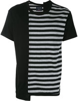 Yohji Yamamoto striped print T-shirt - men - Cotton/Rayon - 3