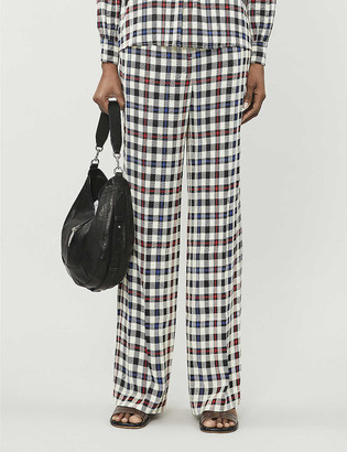 Designers Remix Frigg checked straight woven trousers