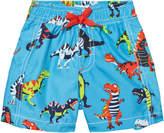 Hatley Blue Dinosaur Print Swim Shorts