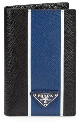 Prada Camoflauge Logo Bifold Leather Wallet