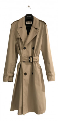 Saint Laurent Beige Cotton Trench coats