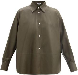 Loewe Relaxed Nappa-leather Shirt - Dark Green