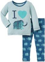 Kickee Pants Print Pajama Set (Baby) - Peacock Mammoth-0-3 Months