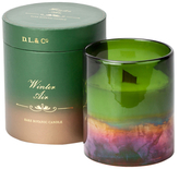D.L. & Co. Winter Air green gold ombre 26oz candle