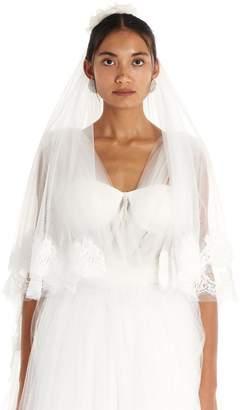 Dolce & Gabbana Floral Detail Lace Veil