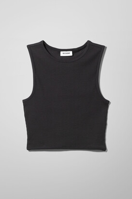 Weekday Drew Rib Tank Top - Black