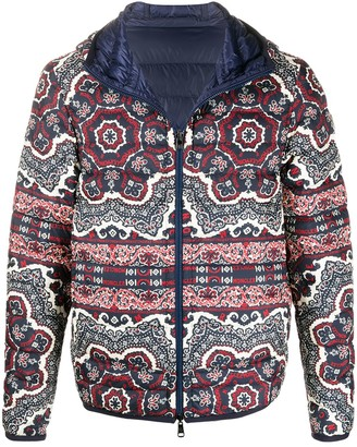 Moncler Zois bandana-print puffer jacket