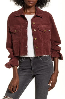 Billabong Boy Toy Corduroy Crop Trucker Jacket