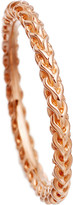 Astley Clarke Stilla Spiga 18ct rose gold-plated chain ring