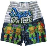 "Nickelodeon Little Boys TMNT ""Super Skaters"" UPF 50+ Swim Shorts"