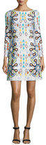 Peter Pilotto Long-Sleeve Geometric-Print Shift Dress