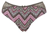 Charlotte Russe Plus Size Printed Lace-Back Cheeky Panties