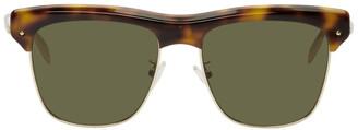 Alexander McQueen Tortoiseshell Metal Skeleton Sunglasses