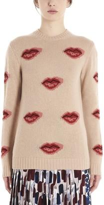 Prada Intarsia Lip Sweater