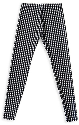 Terez Little Girl's & Girl's Check Leggings
