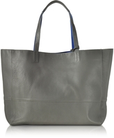 Zadig & Voltaire Gray and Cobalt Blue Leather Reversible Hendrix Tote Bag