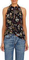 A.L.C. Women's Floral-Print Silk Crepe Top
