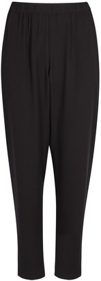Eileen Fisher Black Silk Trousers