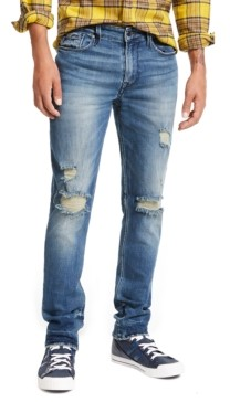 GUESS Men's Slim, Tapered Ripped Jeans