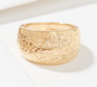 Gold One 1K Gold Diamond Cut Domed Band Ring