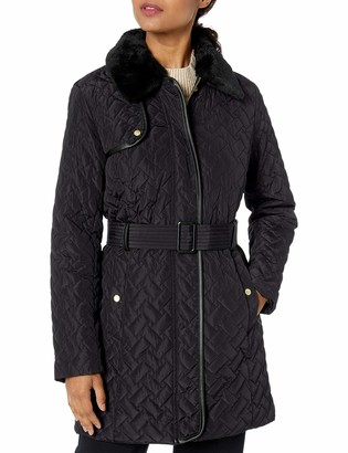 Cole Haan Women's Quilted Trench Coat