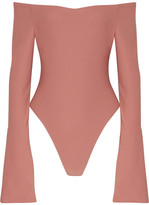 Alix - Baxter Bell-sleeve Stretch-jersey Bodysuit - Antique rose