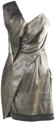 Anthony Vaccarello Metallic Synthetic Dresses