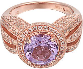 Suzy Levian Diamonds Suzy Levian Silver 4.37 Ct. Tw. Purple Amethyst & White Topaz Ring
