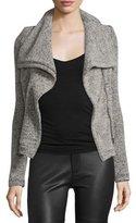IRO Bessie Melange Zip-Front Jacket, Beige