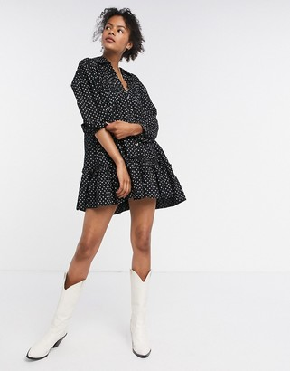 Free People full swing dress in black