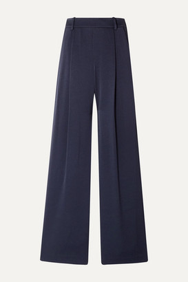 Vince Crepe Wide-leg Pants - Midnight blue