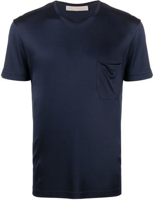 Brett Johnson silk chest pocket T-shirt