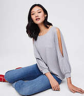 LOFT Split Blouson Sleeve Top