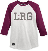 Lrg Men's Logo Raglan-Sleeve T-Shirt