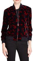 Lauren Ralph Lauren Floral Velvet Bomber Jacket, Multi