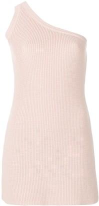 Unravel one-shoulder knit dress