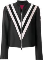 Moncler Gamme Rouge racer striped bomber jacket