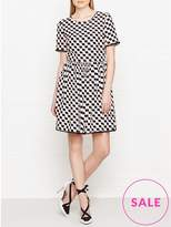 Kenzo Silk Jacquard Check Dress