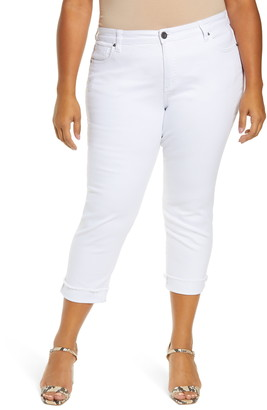 KUT from the Kloth Amy Ripped Straight Leg Roll Cuff Jeans
