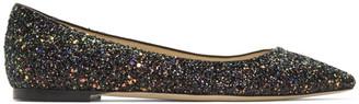 Jimmy Choo SSENSE Exclusive Multicolor Glitter Romy Flats