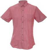 Brave Soul Mens Short Sleeve Summer Shirt/Top Stripey Pattern