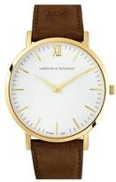 Larsson & Jennings 'Lugano' Short Strap Leather Watch, 40Mm