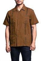 G-Style USA Men's Short Sleeve Cuban Guayabera Shirt 2000-1 - GREY - 4X-Large