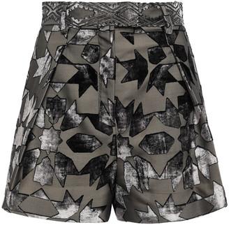 Roberto Cavalli Devore-velvet Shorts