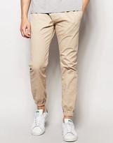 Brave Soul Plain Cuffed Chino Pants