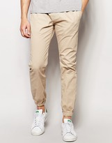 Brave Soul Plain Cuffed Chino Trousers